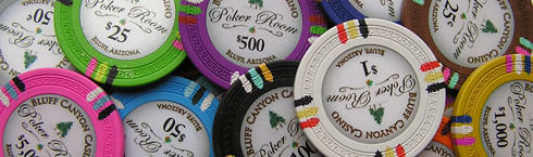 Bluff Canyon Casino Poker Chips