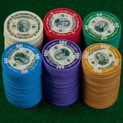 The Greenbacks History Poker Chips are 4 gram composite poker chips