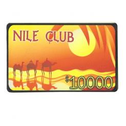 nile club poker chip plaques are 40 gram ceramic chip plaques