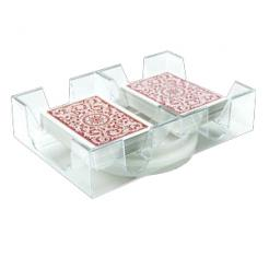 These Rotating Trays are perfect for any games that use mulitple decks of playing cards where there is take and give