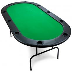 folding poker tables have legs that fold up for easy storage