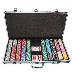 750 las vegas casino poker chip set with an aluminum case