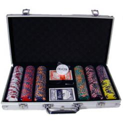 300 triple crown poker chip set in an aluminum case