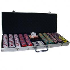 500 triple crown poker chip set in an aluminum case