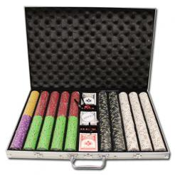 1000 Gold Rush Poker Chip Set in an aluminum case