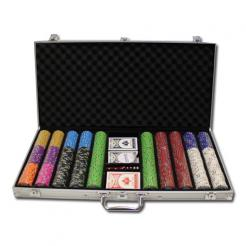 750 Gold Rush Poker Chip Set in an aluminum case
