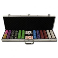 600 Gold Rush Poker Chip Set in an aluminum case