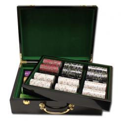 500 Gold Rush Poker Chip Set in a humidor style case