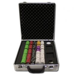 500 Gold Rush Poker Chip Set in a claysmith aluminum case with 5 chip trays
