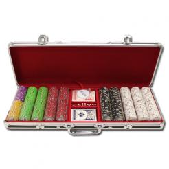500 Gold Rush Poker Chip Set in a black aluminum case