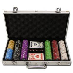 300 Gold Rush Poker Chip Set in an aluminum case
