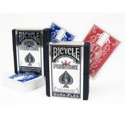1 red and 1 blue prestige plastic bicycle playing cards