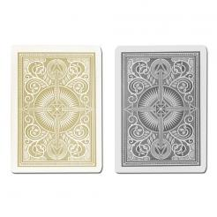 black and gold arrow KEM playing cards