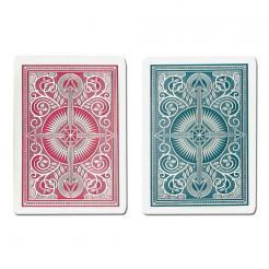 blue and red arrow KEM playing cards