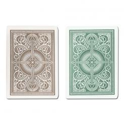 green and brown arrow KEM playing cards