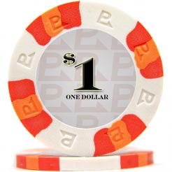 bundle of 25 white nexgen pro poker chips