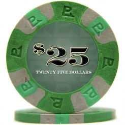 bundle of 25 green nexgen pro poker chips