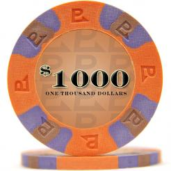 bundle of 25 orange nexgen pro poker chips