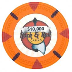 bundle of 25 orange Rock & Roll poker chips