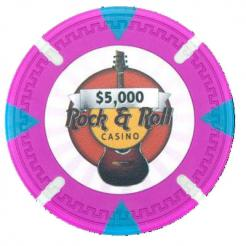 bundle of 25 pink Rock & Roll poker chips