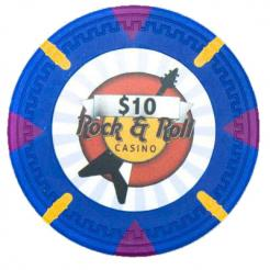 bundle of 25 blue Rock & Roll poker chips
