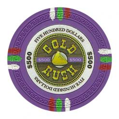 bundle of 25 purple gold rush poker chips