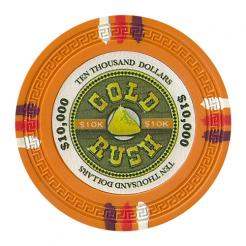 bundle of 25 orange gold rush poker chips