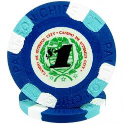 25 Blue Casino De Isthmus Poker Chips
