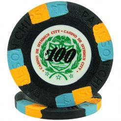 25 Black Casino De Isthmus Poker Chips