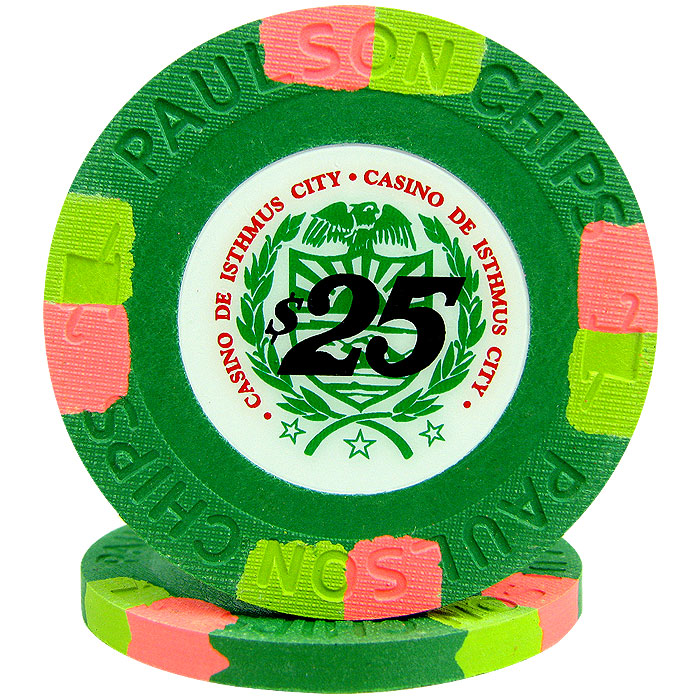 Green casino chip
