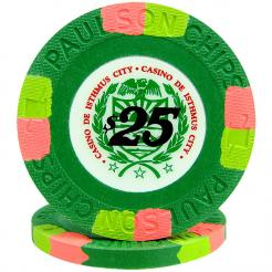 25 Green Casino De Isthmus Poker Chips