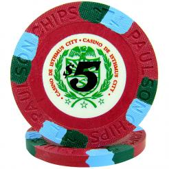 25 Red Casino De Isthmus Poker Chips