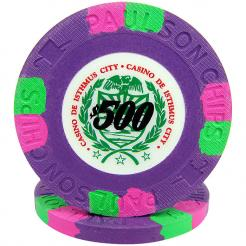 25 Purple Casino De Isthmus Poker Chips