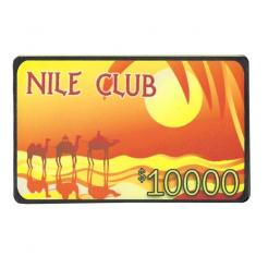 $10,000 nile club poker chip plaque