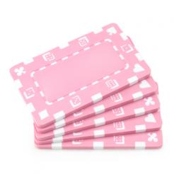 5 pink striped dice poker chip plaques