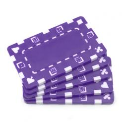 5 purple striped dice poker chip plaques