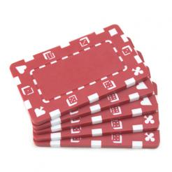 5 red striped dice poker chip plaques