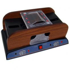 this wooden shuffler will shuffle 1-2 decks of playing cardsthis wooden shuffler will shuffle 1-2 decks of playing cards