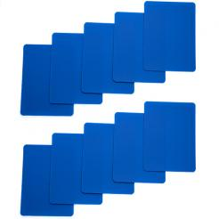 10 pack of blue cut cards available in poker or bridge size