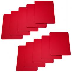 10 pack of red cut cards available in poker or bridge size