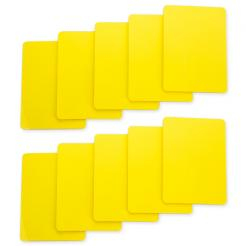 10 pack of yellow cut cards available in poker or bridge size