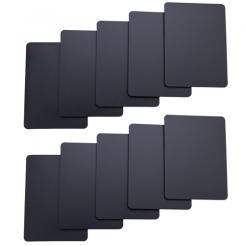 10 pack of black cut cards available in poker or bridge size
