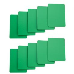 10 pack of green cut cards available in poker or bridge size