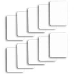 10 pack of white cut cards available in poker or bridge size