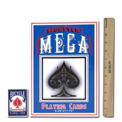 These oversized extra large playing cards are 8.25 x 11.75 in size.