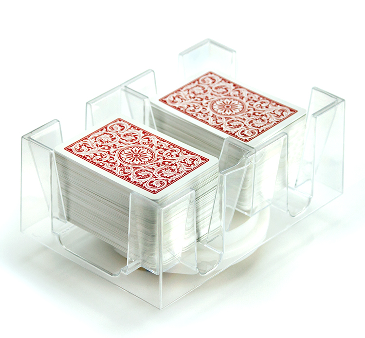 6 Deck Rotating Playing Card Tray