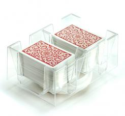 6 Deck Rotating Playing Card Tray.  cards not included