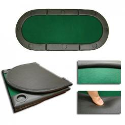 72 inch long folding poker table top - 8 person