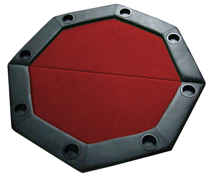 Red 48 Foldable Octagon Poker Table Top. Back To List