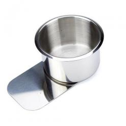 Slide Under Stainless Steel Poker Table Cup Holder